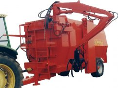 Chipper mixer 15 m³ for PTO tractor with crane - 25 km/h