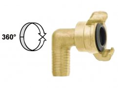 Hose end 90° coupling 360° 5/8