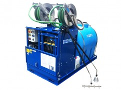 Hot water weed control machine 1000 liter - generator Subaru