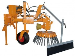 Weed brush machine for tractor PTO