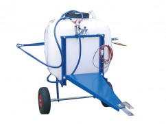 Trailed sprayer 100 liter - pump 12 Volt - 8 l/min