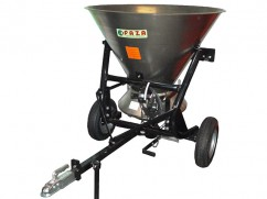 Salt and sand spreader with stainless steel tank of 500 liter, trailed version 80 km/h