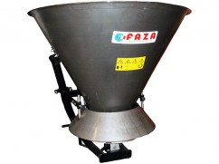 Salt- sand spreader with stainless steel tank of 500 liter, tractor PTO version