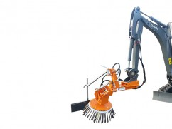 Weed brush machine for mini-digger KM-25