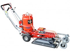 Infrared burner on 4 wheels self-propelled