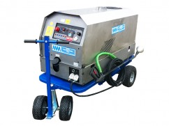 Weed steamer accu 12 Volt (Gel 150 Ah) - 100 liter - 4 wheels