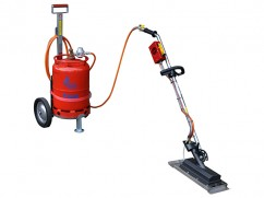 Infrared burner on wheels 6,5 kw turbo