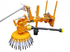 Weed brush machine for tractor - manual adjustment