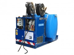 Stoomonkruidbestrijder 1000 liter - batterij 12 Volt (Lithium 400 Ah) - pick-up model