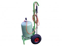 Gaz weed burner with trolley