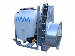 Mistblower 120 liter - pump AR503 PTO - tower fan inox