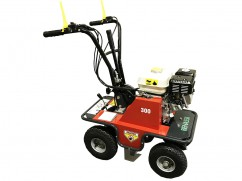 Green turf cutter with engine Honda GX160 OHV - 30 cm