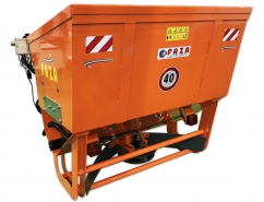 Self-loading salt spreader 1200 liters for 3-point hitch tractor - hydraulic driven