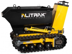 Electric dumper DCT-300 H on crawler tracks and a load capacity of 450 kg