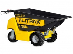 Electric dumper DT-1000 E with 4 wheels and a load capacity of 1.000 kg