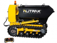 Electric dumper DCT-350 H on crawler tracks and a load capacity of 450 kg - with remote control