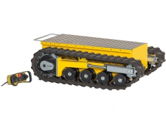 Electric loading platform DCT-350 on crawler tracks and a load capacity up to 450 kg - with remote control