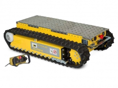 Electric loading platform DCT-450 on crawler tracks and a load capacity up to 450 kg - with remote control
