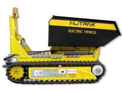 Electric dumper DCT-450 H on crawler tracks and a load capacity of 450 kg - with remote control