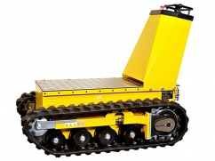 Electric loading platform DCT-300 on crawler tracks and a load capacity up to 450 kg