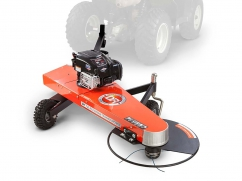 Tow-behind brushcutter mower for ATV or tractor with B&S engine