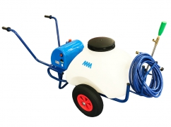 Sprayer on wheels - pump 12 Volt - 70 liter