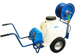 Sprayer on wheels - pump 12 Volt - 120 liter