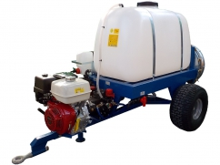 Tow-behind sprayer with atomizer 300 liters - pump AR403 - engine Honda GX390 OHV