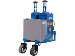 Hot water weed control machine 800 liter - capacity 150 kW - tractor 3-point