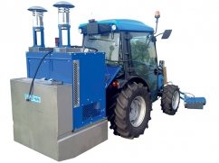 Hot water weed control machine 500 liter - capacity 150 kW -  tractor 3-point
