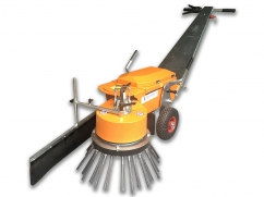 Weed brush machine with Li-ion battery 48V - 1500W - working width 45 cm - push model