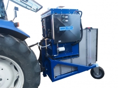 Hot water weed control machine 800 liter - capacity 90 kW - tractor 3-point