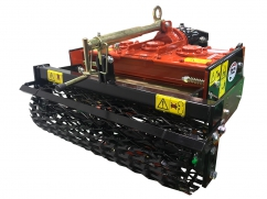 Power harrow 60 cm - roller 70 cm - for two-wheel tractor