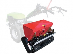 Seeder 90 cm - roller 100 cm - capacity 57 liters - for two-wheel tractor - trailled version
