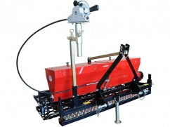 Seeder 120 cm - roller 132 cm - capacity 65 liters - for 3-point tractor