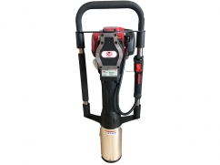 Portable post driver with Honda GX35 OHV 4-stroke engine - posts of 80 and 100 mm