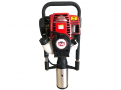 Portable post driver with CVE 37,7 cm³ 4-stroke engine - posts of 80 and 100 mm