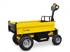 Electric dumper JT-301L E with 4 wheels and a load capacity of 300 kg