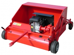 Trailed collection brush powered by petrol engine - working width 120 cm