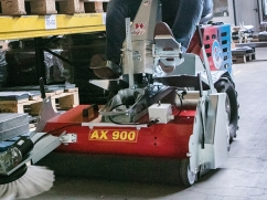 Axial brush AX 900-E - working width 900 mm - poly (PPN) brush