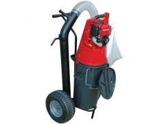 Vacuum collector on 2 wheels - 50 liters - ø 125 mm with - GX25 4-stroke engine
