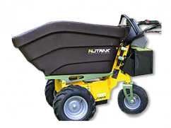 Electric dumper DT-300E with 4 wheels and a load capacity of 200 kg, plastic skip