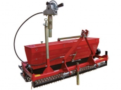 Seeder 140 cm - roller 150 cm - capacity 76 liters - for 3-point tractor