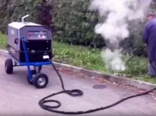 Weed control machines with steam