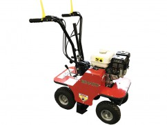 Green turf cutter with engine Honda GX200 OHV - 39 cm